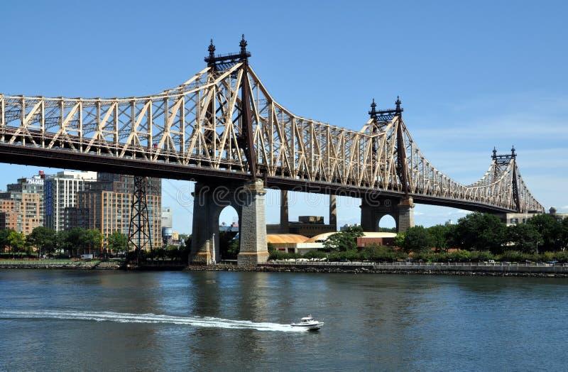 bridge den nya queensboroen york för staden royaltyfri bild