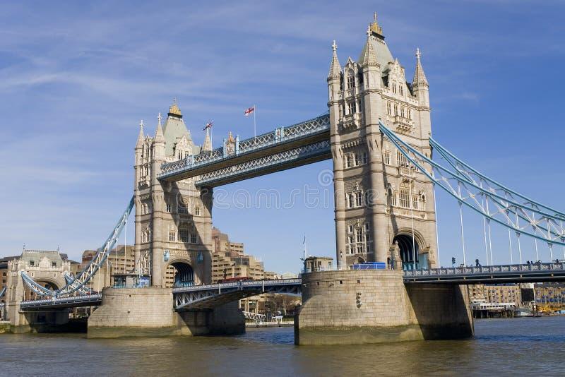 bridge det england london tornet royaltyfria foton