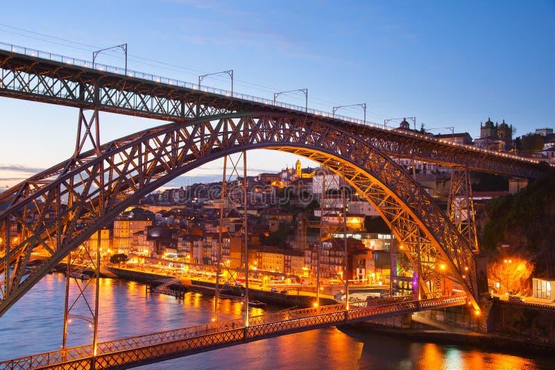 bridge dom-luis porto portugal royaltyfria bilder