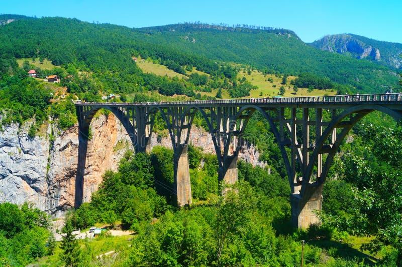 The bridge Tara, Durmitor, Montenegro. The bridge Durđevića, Tara, Durmitor, Montenegro stock image