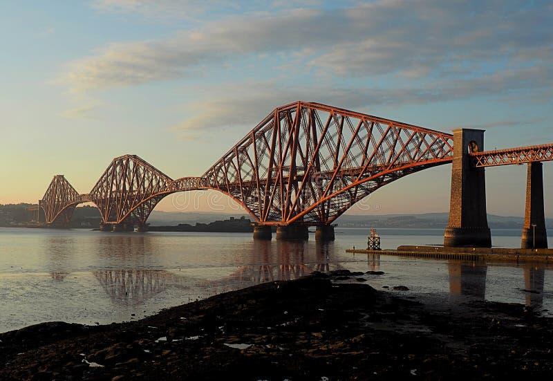 Bridge in Edinburgh. An iron railway bridge over the Leith River in the Scottish city of Edinburgh stock image