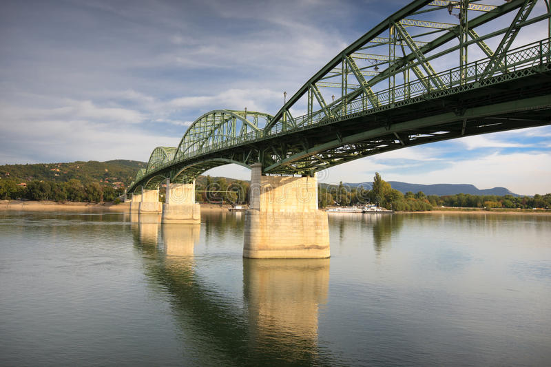 Bridge in Esztergom stock photo