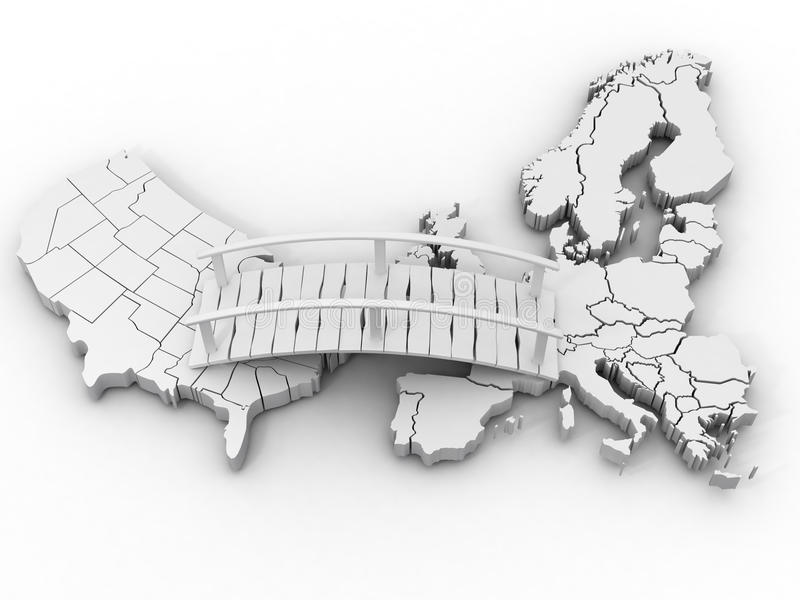 Bridge Between Europe And Usa Royalty Free Stock Photography