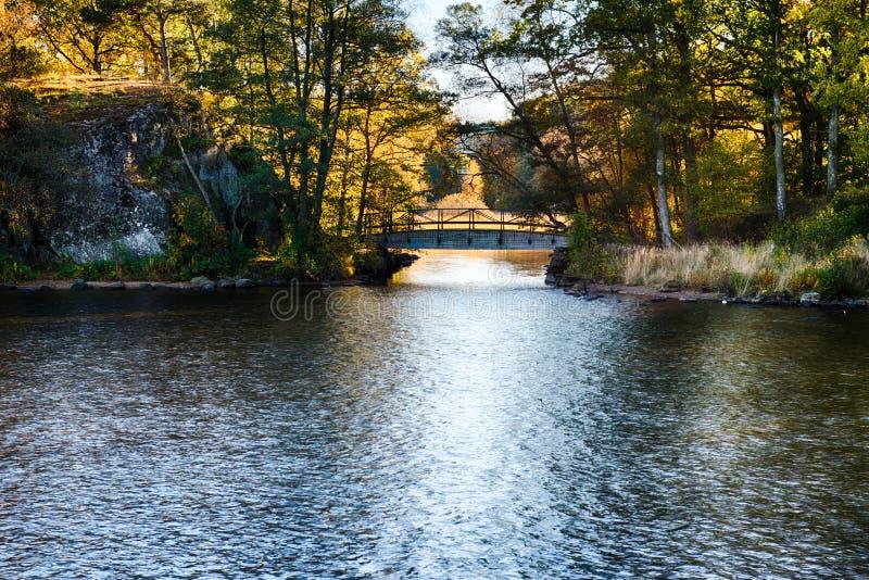 Bridge at fall royalty free stock image