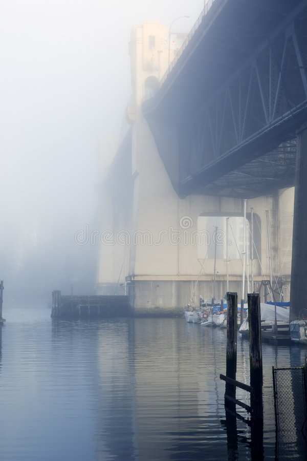 Download Bridge in Fog stock image. Image of misty, british, olympic - 7934459