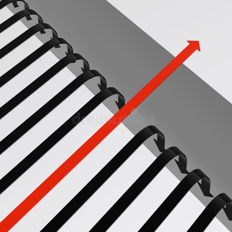 Bridge a gap. (HQ 3D image stock illustration