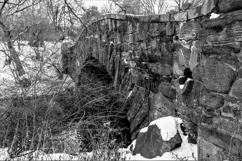 bridge gapstowvintern arkivfoton