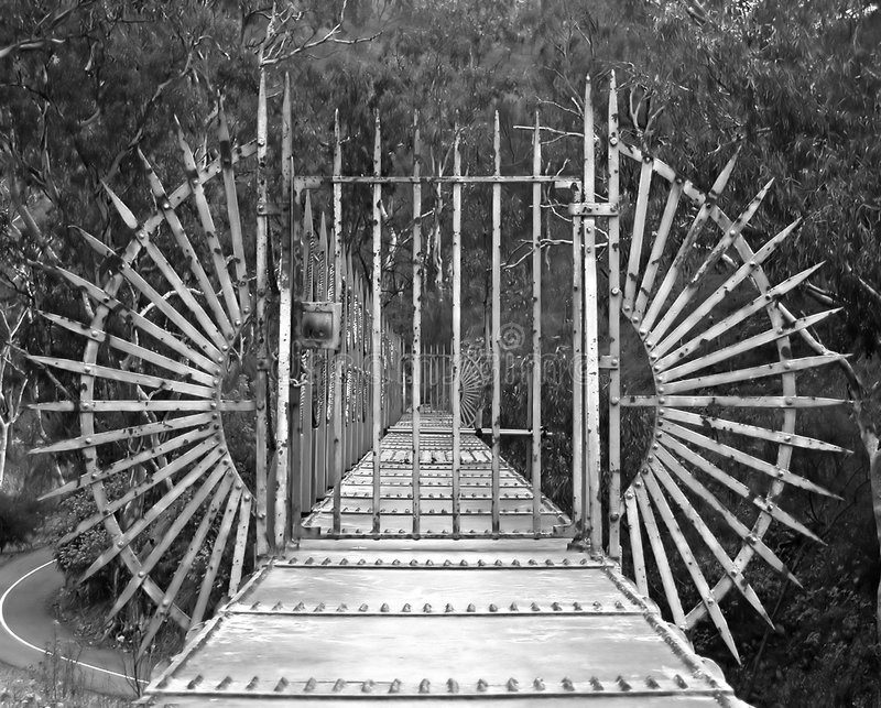 Download Bridge with Gate stock photo. Image of trees, white, gate - 14768