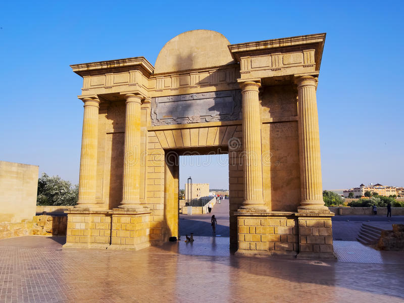 Bridge Gate in Cordoba, Spain stock image