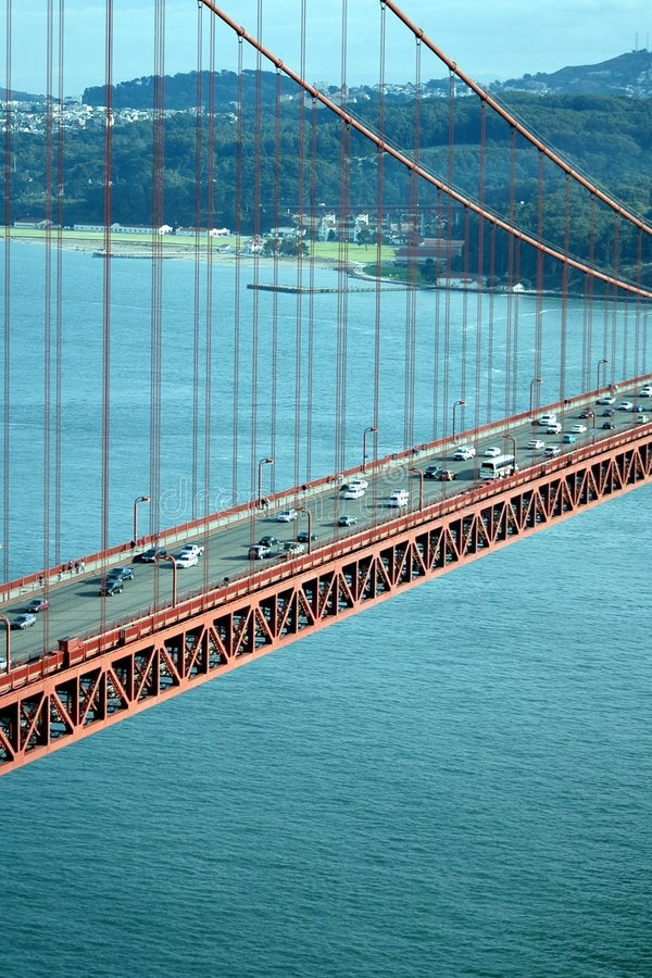 bridge gate golden traffic στοκ εικόνες