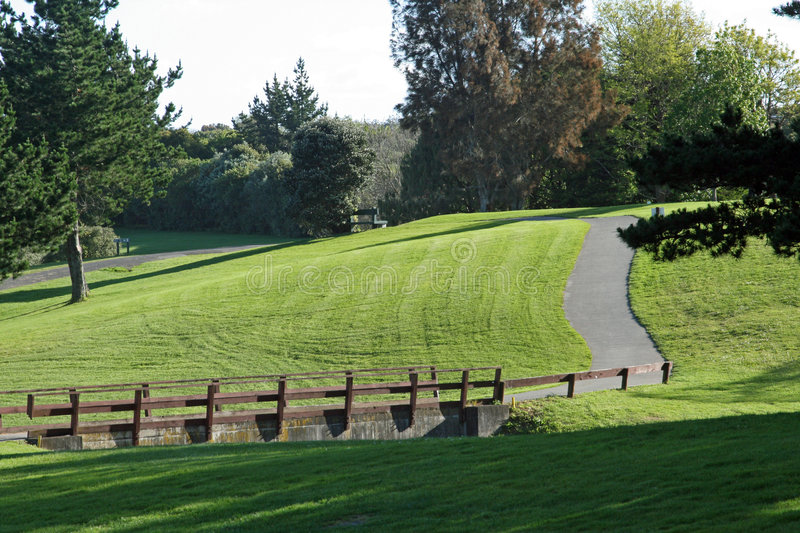 Bridge On A Golf Course Royalty Free Stock Photo
