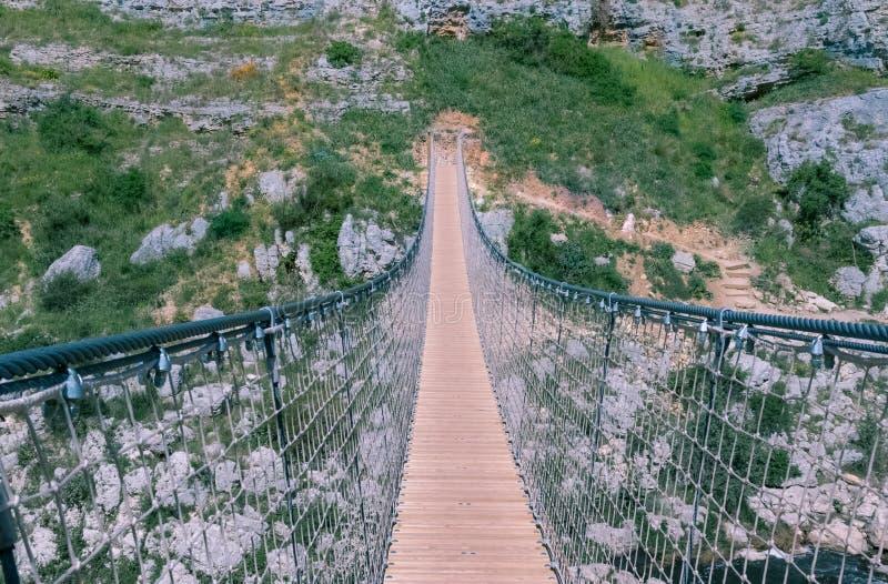 Bridge on the Gravina di Matera, sassi di matera. UNESCO European Capital of Culture 2019 stock images