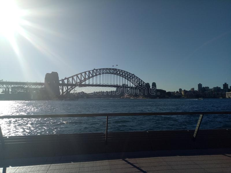 bridge hamnen sydney royaltyfria foton