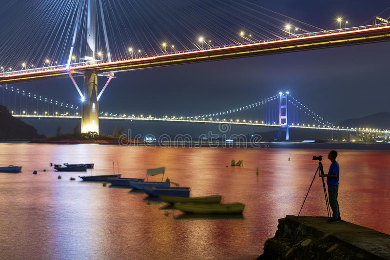 Bridge in Hong Kong royalty free stock photo