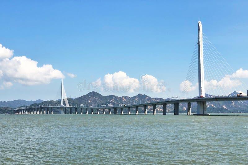The Bridge Houhai Bay To Hong Kong Island royalty free stock image
