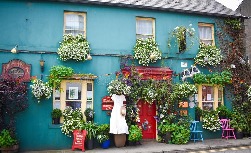 Bridge House Skibbereen. Bridge House the title of 'Most Unusual B&B in Ireland'. An award that the owner Mona Best wears with pride. With West Cork royalty free stock photos