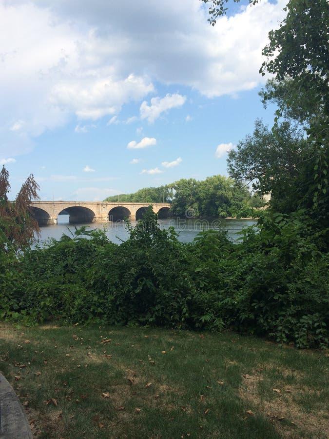 Bridge on the Hudson royalty free stock photos