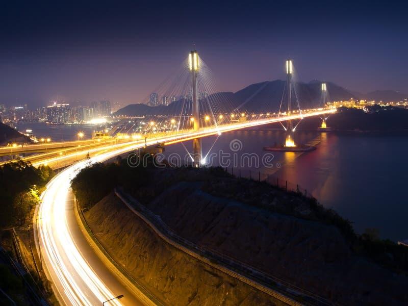 bridge huvudvägkau ting trafik royaltyfria foton