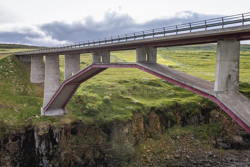 Bridge in Iceland stock photography