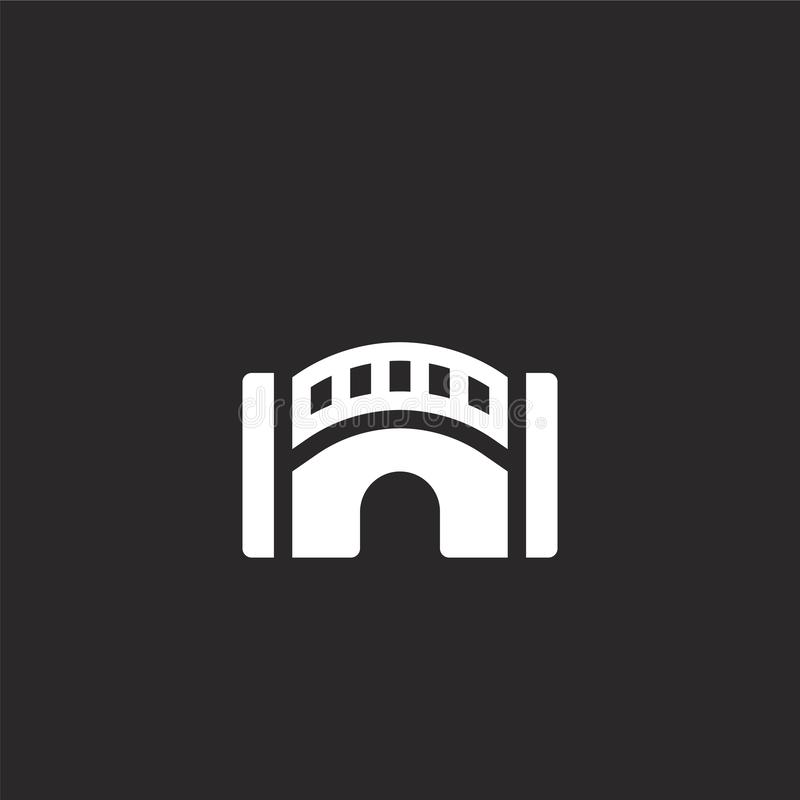bridge icon. Filled bridge icon for website design and mobile, app development. bridge icon from filled architecture collection royalty free illustration