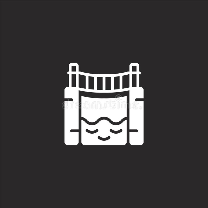 bridge icon. Filled bridge icon for website design and mobile, app development. bridge icon from filled jungle collection isolated royalty free illustration