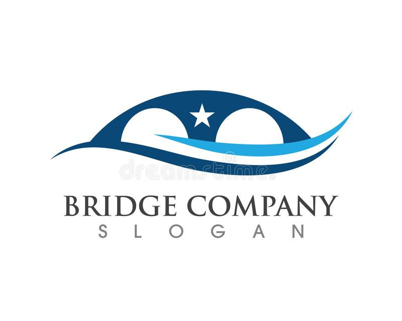 Bridge icon vector illustration Logo. Template design vector illustration