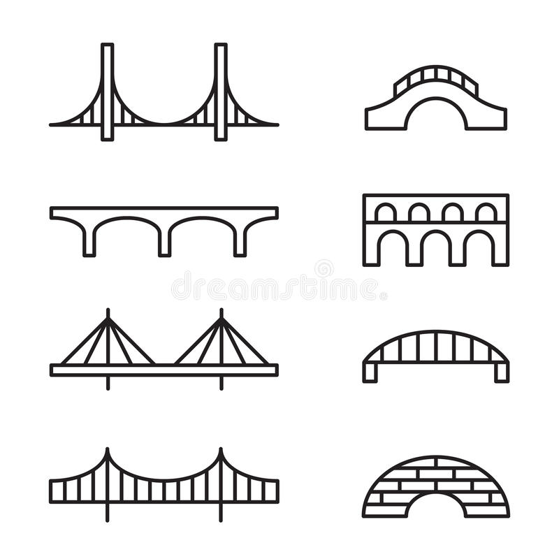Bridge icons stock illustration