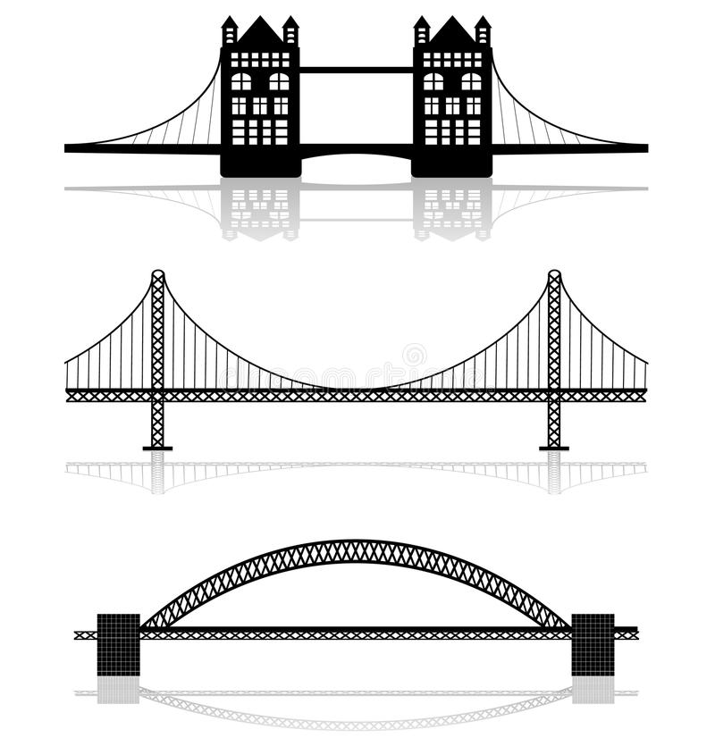 Bridge illustrations royalty free illustration