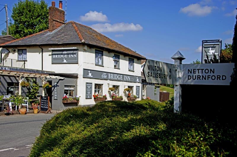 The Bridge Inn Upper Woodford Salisbury. The Bridge Inn at Upper Woodford Salisbury royalty free stock photo