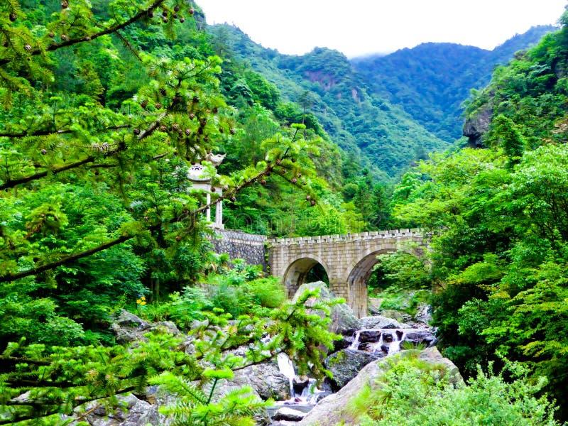 Bridge inside Sword Gates-Ten gate Gorge stock photography