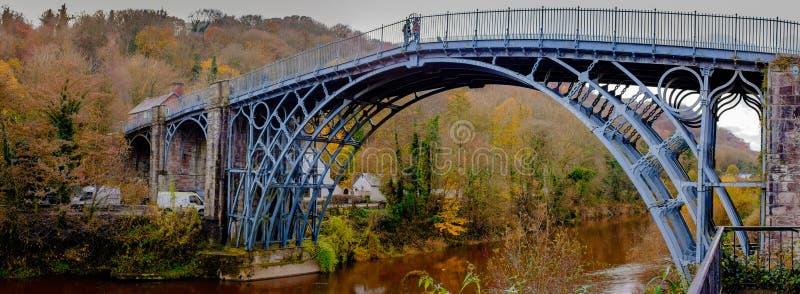 Bridge of Iron. The Iron Bridge across Ironbridge Gorge in Telford, Shropshire, UK. Home of the Industrial Revolution stock images