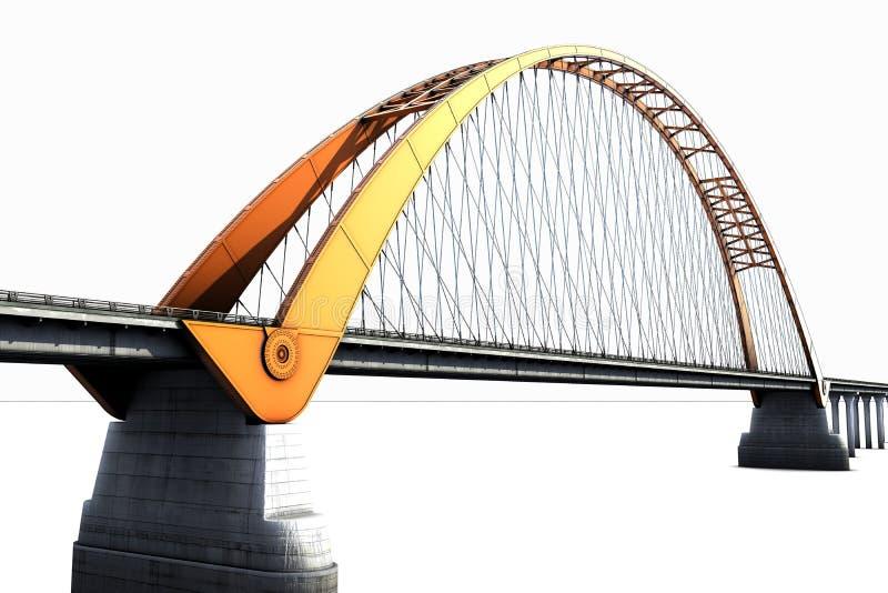Bridge isolated on white royalty free illustration