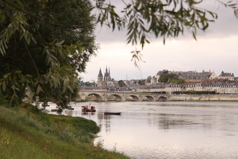 Bridge Jacques-Anzha Gabriel in Blois. France royalty free stock photo