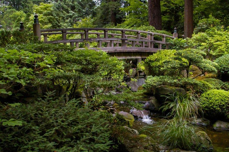 Bridge in Japanese Garden stock image