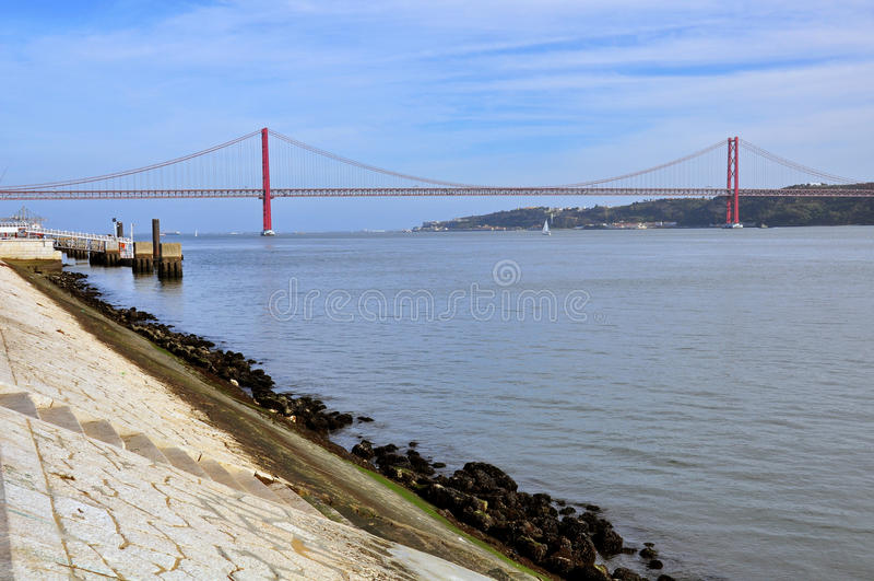 Download Bridge of 24 July, Lisbon stock photo. Image of european - 35259062