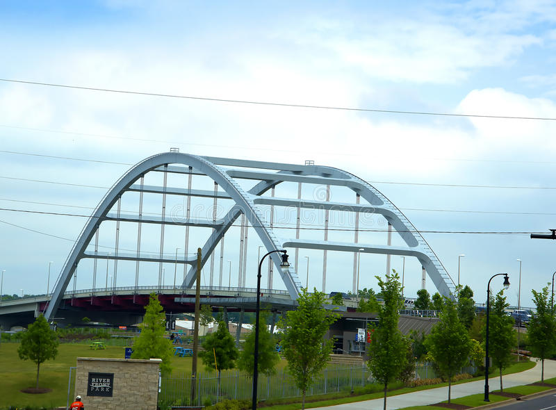 Bridge just outside of Memphis Tennessee in the USA royalty free stock photos