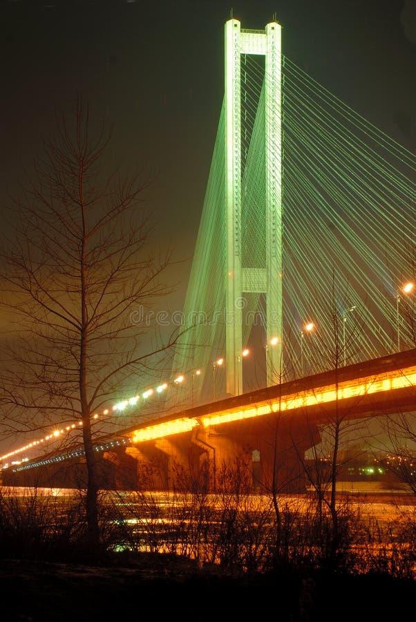 bridge kiev night south ua στοκ φωτογραφίες