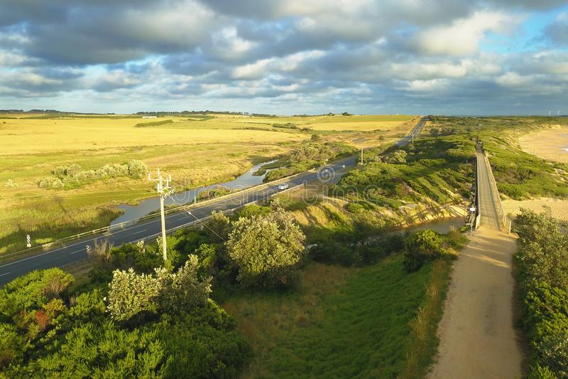 Download Bridge At Kilcunda, Victoria Stock Image - Image of over, travel: 106988975