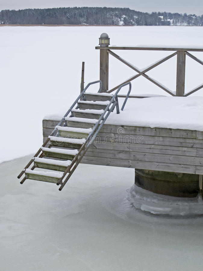 Download Bridge with ladder stock photo. Image of snow, steps - 23539638