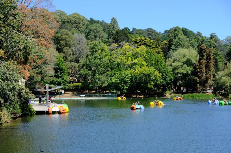 Lake Treganowan at Lakeside Station, Melbourne, Australia. About one mins walk from Lakeside Station of the Puffing Billy Steam train, you can visit Lake royalty free stock photography