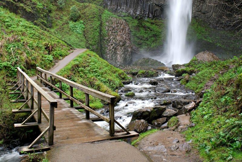 Bridge at Latourelle Falls, Oregon royalty free stock photo