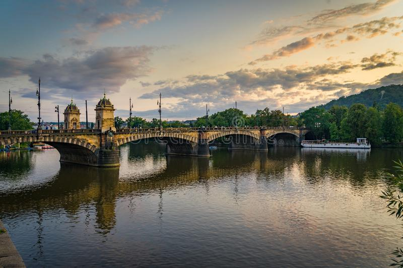 Bridge of Legions Prague in Czech Republic. Bridge of Legions Prague in Czech Republic stock image