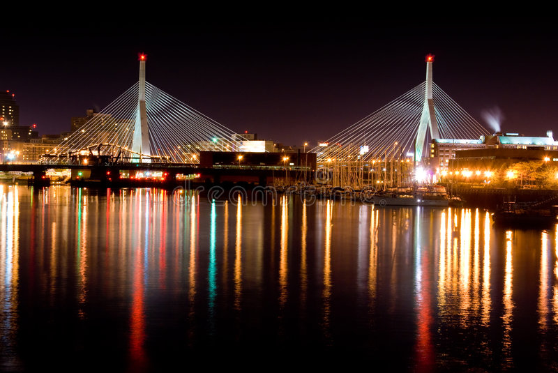 bridge leonard zakim στοκ εικόνα