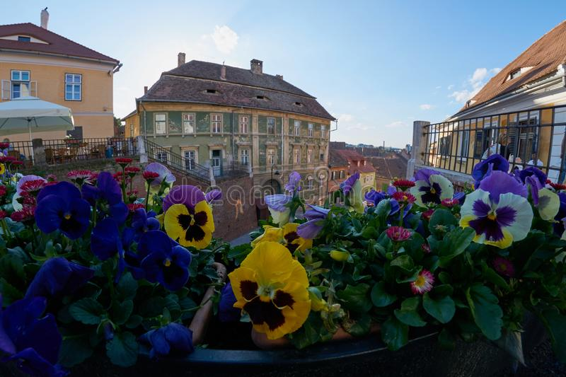 The bridge of lies in Hermannstadt or Sibiu in Transylvania royalty free stock photography