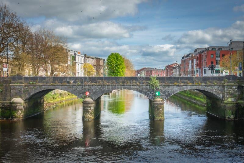Bridge in Limerick. One of the old stone bridges in Limerick city, Ireland stock photography