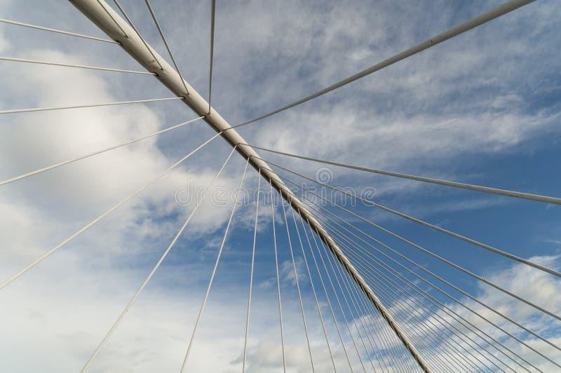 Bridge lines abstract sky geometry royalty free stock image