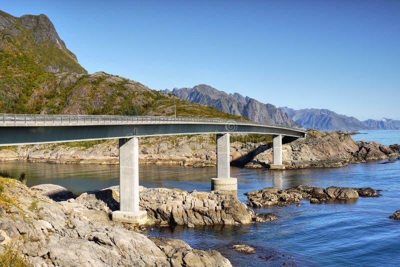 Bridge, Lofoten Islands royalty free stock images