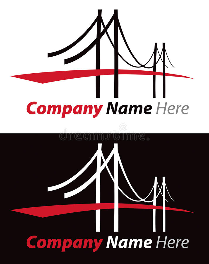 Bridge Logo. A logo icon of a large suspension bridge