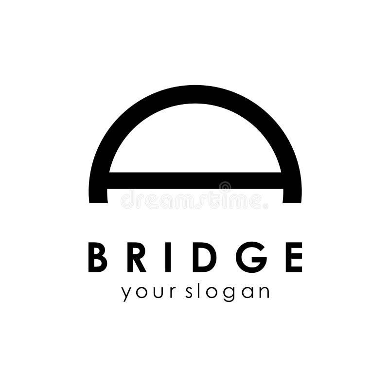 Bridge logo template, building logo design concept idea. Icon, abstract, vector, isolated, business, architecture, symbol, illustration, modern, travel stock photo