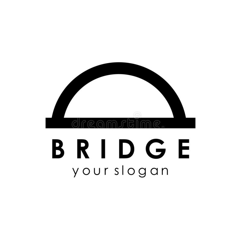 Bridge logo template, building logo design concept idea. Icon, abstract, vector, isolated, business, architecture, symbol, illustration, modern, travel stock illustration